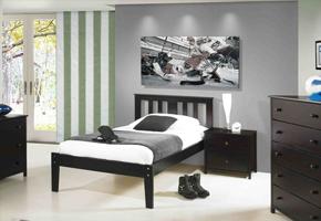 Milan Espresso Platform Bed