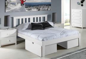 Milan white Platform Bed