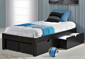Venice Espresso Platform Bed