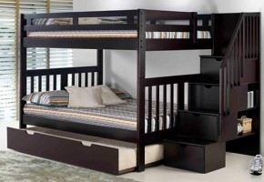Roma Staircase Full Over Bunk Bed