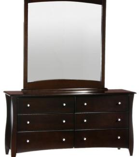 Clove 6 Drawer Dresser with Mirror