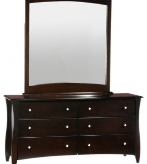 Clove 6 Drawer Dresser with Mirror