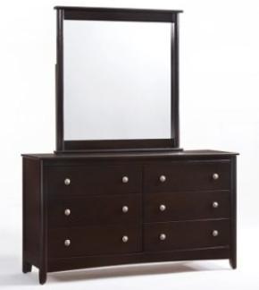 Secrets 6 Drawer Dresser with Mirror