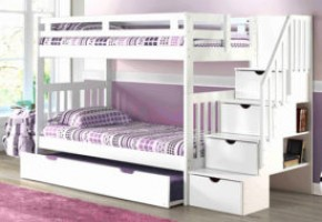 Naples Stairway Twin-over-Twin Bunk Bed