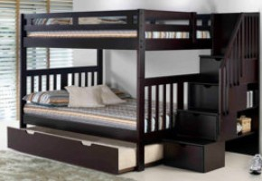 Roma Staircase Full-Over-Full Bunk Bed