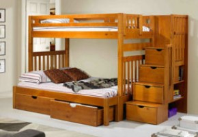 Stairway Twin-Over-Full Bunk Bed