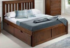 York Brushed Chestnut Platform Bed